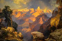 Thomas Moran - Grand Canyon with Rainbow, 1912 at de Young Museum of Fine Arts - San Francisco CA
