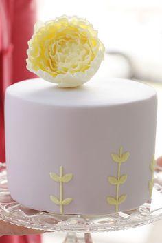 lavender and yellow peony cake by hello naomi Gorgeous Cakes, Pretty Cakes, Amazing Cakes, Cupcakes, Cupcake Cakes, Hello Naomi, Peony Cake, Flower Cakes, Chocolate