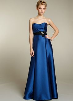 Bridesmaids Options - Sapphire Blue, Silk Mikado Gowns by Jim Hjelm.....I still love these dresses!