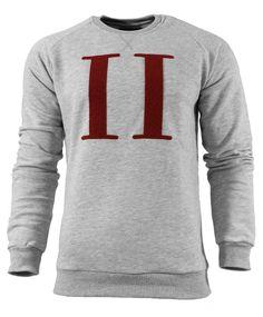 """Les Deux sweat Princeton Les Deux Sweat Princeton - Endelig har kolleksjonen fra Les Deux ankommet. Denne fantastiske genseren i 100% bomull med bourdeaux romertall logo i front er  """"må ha""""!"""