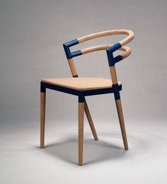 Wood Chair An Assembled Chair on Behance Deco Furniture, Design Furniture, Chair Design, Cool Furniture, Modern Furniture, Furniture Market, Stool Chair, Hammock Chair, Diy Chair
