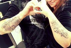 Couple tattoo #tattoos #matchingtatts #rose #diamond #AlwaysAndForever