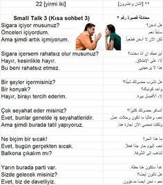 محادثة قصيرة باللغة التركية