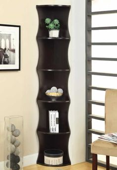 Tall & Narrow Corner Bookshelf