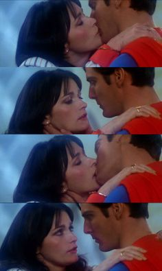 Probably the hottest scene between Lois Lane and Superman is their kisses close to the conclusion to Donner's cut in Superman II. These kisses occur after Superman destroys the Fortress of Solitude. These kisses, by the way, do not erase Lois's memory as it does in the official version. Instead, Donner repeats the ending from the original movie where Supes travels around the planet to change things (the weakest part of the movie - and I presume that the Fortress is rebuilt after this).