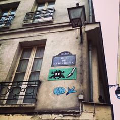 Space Invader - Rue de la Huchette, Paris