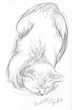 Daily Sketch: Mimi Falling Asleep