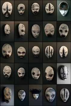I did some new masks - all for sale directly through me. Just send me a note new masks from TORVENIUS Creepy Masks, Creepy Art, Arte Horror, Horror Art, Steampunk Cosplay, Arte Obscura, Art Sculpture, Masks Art, Halloween Masks