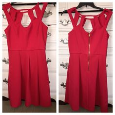 Red Betsy Johnson dress Beautiful red dress by Betsy Johnson. Worn once, like new condition! Betsey Johnson Dresses Mini