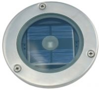 Solar Silver Round Decking Light IP44 Rated (3 Watt Alternative)
