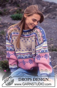 Nordic - Free knitting patterns and crochet patterns by DROPS Design Knitting Kits, Fair Isle Knitting, Knitting Charts, Knitting Patterns Free, Free Knitting, Jumper Knitting Pattern, Cardigan Pattern, Top Pattern, Penguins