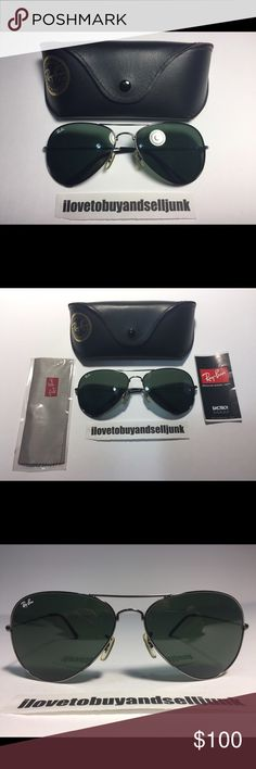 bc8982dc05f PRE-OWNED RAY BAN RB3026 LARGE AVIATOR SUNGLASSES ALMOST BRAND NEW  PRE-OWNED 100