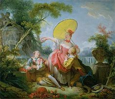Title: The Musical Contest, c.1754 Artist: Jean-Honore Fragonard Medium: Hand-Painted Art Reproduction