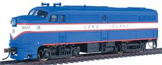 Walthers Trainline #931-238 Alco FA1 Long Island #607 (blue, white, red), DC ONLY, Ready to Run, HO