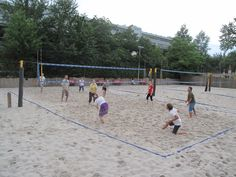Beach Volleyball Beach Volleyball, Strand, Tennis, Basketball Court, Sports, Night, Hs Sports, Sport