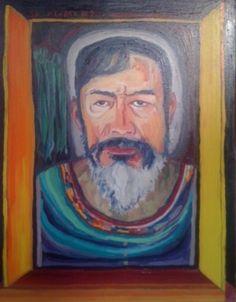 Bernardo CRESPIN : Autorretrato ; 2015 ; oleo ; 61cm x 45cm ; colección MDAA (adquirido del artista en Marzo 2015)
