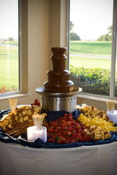 Chocolate fountain....a MUST!
