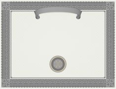 Grey Certificate Template PNG Image