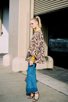 frayed cropped wide legs, belted jacket