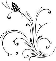 .Arabescos, borboletas, flores..
