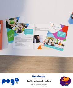 the uses are endless. Pogo offers premium print of stapled booklets and brochures with 4 to 40 pages in portrait or landscape. Brochure Design, Brochure Template, Saddle Stitch Booklet, Business Brochure, Printing Services, Ireland, Product Catalogue, Templates, Brochures