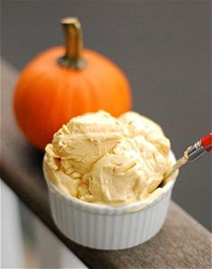 "Homemade pumpkin frozen yogurt - Eat Your Books is an indexing website that helps you find & organize your recipes. Click the ""View Complete Recipe"" link for the original recipe."