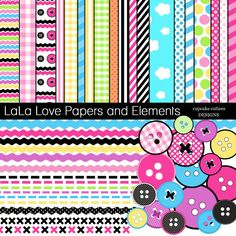 LaLa Love Papers and Elements