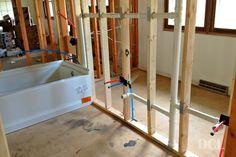 Plumbing pex water lines install for toilet sinks for Basement bathroom ideas plumbing