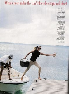 Vogue Editorial July 1995 - Niki Taylor & Kirsty Hume by Pamela Hanson