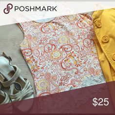Paisley Printed Tank This beautiful tank is the perfect base for your spring outfits! Pair it with a bright colored blazer and sandals for a chic look! Worn gently. No rips, stains, or holes. Smoke and pet free home.                                                                 🚫No trades 🚫No low-balling. Coldwater Creek Tops Tank Tops