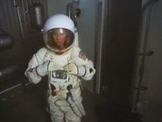 """Bess Fowler(Simone Griffith) suits up to walk on the moons surface in the 1976 """"SIx Million Dollar Man"""" Episode """"Dark Side Of The Moon"""""""