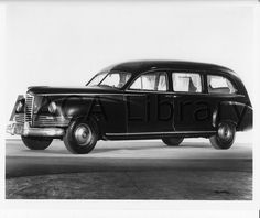 1948 Packard Henney Hearse Funeral Car Factory Photo