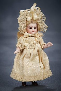 Simon & Halbig — 5''German All-Bisque Doll with Original Costume (687x1024)