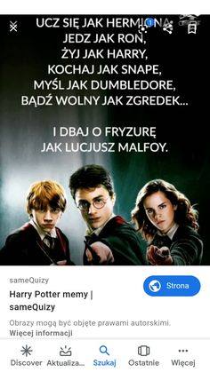 To jest tak śmieszne że hit hit Xddd Harry Draco, Draco Malfoy, Slytherin, Hogwarts, Funny Lyrics, Funny Mems, Harry Potter Memes, Drarry, Lol