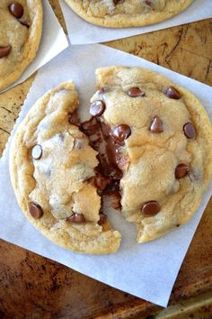 Soft and Chewy Nutella Stuffed Chocolate Chip Cookies.