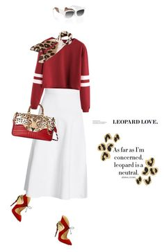 """""""Leopard #539"""" by meryflower ❤ liked on Polyvore featuring Christian Louboutin, Victoria Beckham, Gucci, Halston, Anna-Karin Karlsson, victoriabeckham, gucci and Christianleoubotin"""