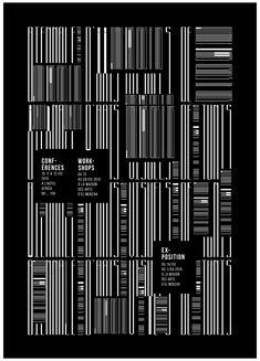 Ознакомьтесь с этим проектом @Behance: «Experimental Posters» https://www.behance.net/gallery/24851921/Experimental-Posters