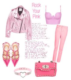 Rocking Pink by sarahannisaa on Polyvore featuring polyvore, fashion, style, MANGO, Topshop, Valentino, clothing, contest, Pink and grunge