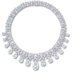 A MAGNIFICENT DIAMOND NECKLACE, BY HARRY WINSTON ❤ liked on Polyvore featuring jewelry, necklaces, harry winston, diamond necklace, diamond jewellery, diamond jewelry and jewel necklace