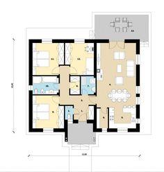 106 m2 (Bruttó 17.596.000 Ft) | Koncz Bau Floor Plans, House, Haus, Homes, Floor Plan Drawing, Houses, House Floor Plans