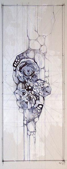 Brain Scan 005 (Love)  15 x 6 in. sold