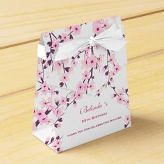 Shop Cherry Blossoms Pink White Favor Box created by CherryBlossomWedding. Cherry Blossom Fiesta, Cherry Blossom Wedding, Sakura Cherry Blossom, Cherry Blossoms, Cherry Flower, Cherry Blossom Centerpiece, Japanese Wedding, Wedding Favor Boxes, Birthday Favors