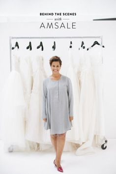 Tendance Robe De Mariée 2017/ 2018 : Behind the scenes with wedding dress designer Amsale: www.stylemepretty   Ph