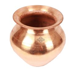 "IndianArtVilla 4.2"" X 5.0"" Handmade 100% Pure Copper Lota Pot Volume 800 ML Water Storage Pot for use Good Health Benefits Yoga, Ayurveda"