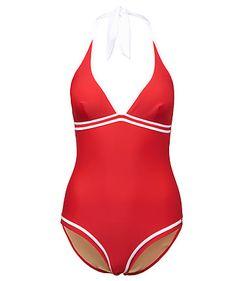 Badeanzug von Tommy Hilfiger  #red #swimsuit #fashion #fifties