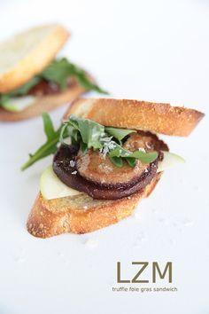 Seared truffle Foie Gras sandwich