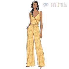 Sewing Pattern Jumpsuit and Jacket Pattern, Wide Leg Jumpsuit Pattern, Jumpsuit with Pockets Pattern, Butterick Sewing Pattern 6691 Formal Dress Patterns, Evening Dress Patterns, Women's Evening Dresses, Jumpsuit Pattern, Jacket Pattern, Patron Butterick, Dress Sketches, Fashion Figures, Look Vintage