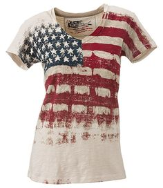 Natural Reflections® Vintage Flag T-Shirt for Ladies - Short Sleeve | Bass Pro Shops