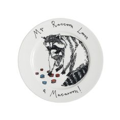 Discover the Jimbobart Assiette «M. Raton aime le Macaron» at Amara