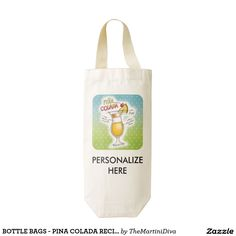 Purchase some Pina Colada wine bags from Zazzle. Our wine totes are great for making bottles of vino gifts for friends & family! Black Labs Dogs, Wine Tote Bag, Mojito Cocktail, Mojito Recipe, Christmas Wine, Bottle Bag, Dog Wear, Pina Colada, Cocktails